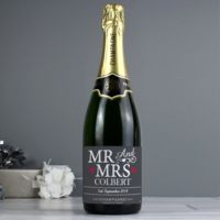 Mr & Mrs Personalised Champagne Thumbnail