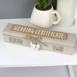 Personalised Wooden Wedding Certificate Holder Thumbnail