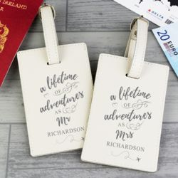 Personalised 'Lifetime of Adventures' Couples Luggage Tags Thumbnail