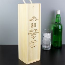 Personalised Wooden Wine Box Thumbnail