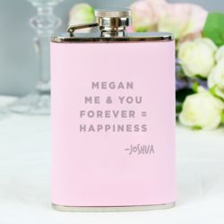 Personalised Pink Hip Flask Thumbnail